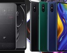 The Xiaomi Mi 8 Explorer Edition (L) and Mi Mix 3 (R) were released in 2018. (Image source: Xiaomi/Paranoid Android - edited)