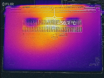 Thermal map (underside)