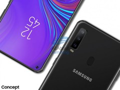 Renders of the Galaxy A8s. (Source: GSMArena)