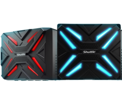 The front panel can be customized with RGB LEDs. (Source: Shuttle)