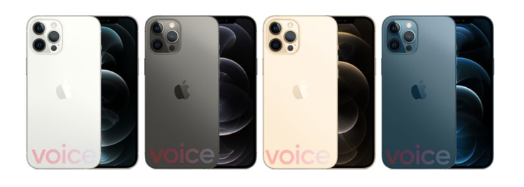 "...along with the ""iPhones 12"" in all their new alleged styles. (Source: Voice))"