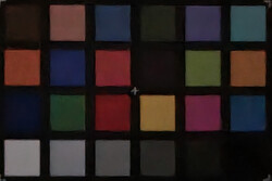 ColorChecker (1 lux, with scene optimization enabled)