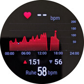 Heart rate information display