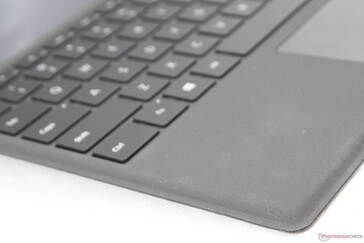 Familiar Alcantara texture that has become standard on the Surface Pro Type Cover