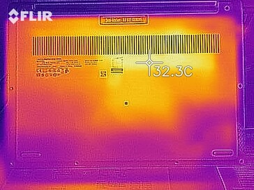 Heat map during idle operation - bottom