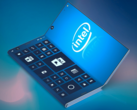 A rendered imagining of Intel's latest folding smartphone patent. (Source: LetsGoDigital)