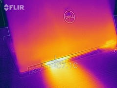 Thermal imaging of the fan outlet during a stress test