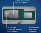 Latest Core i7-8706G Kaby Lake-G processor is almost as fast as the Core i5-8300H (Image source: Intel)