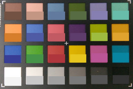 ColorChecker: Target colors are displayed in the lower half of each patch