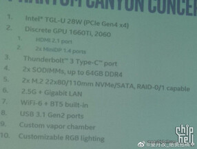 Phantom Canyon concept specifications