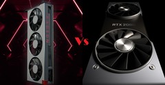 A new GPU battle for 2019: the Radeon VII vs. the GeForce RTX 2080. (Source: AMD/Nvidia/edit)