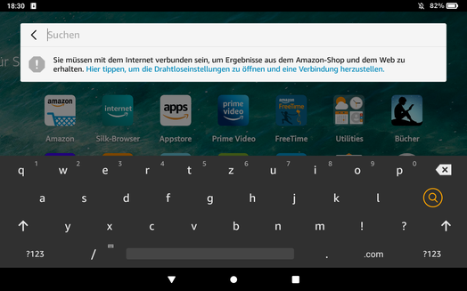 Amazon Fire HD 8 Plus (2020) - Text input