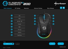 Sharkoon Light² 200 ultra light gaming mouse software - Button Assignment