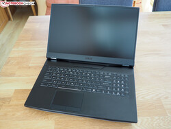 The MSI GT76 sports a 17.3-inch display and is also quite bulky.