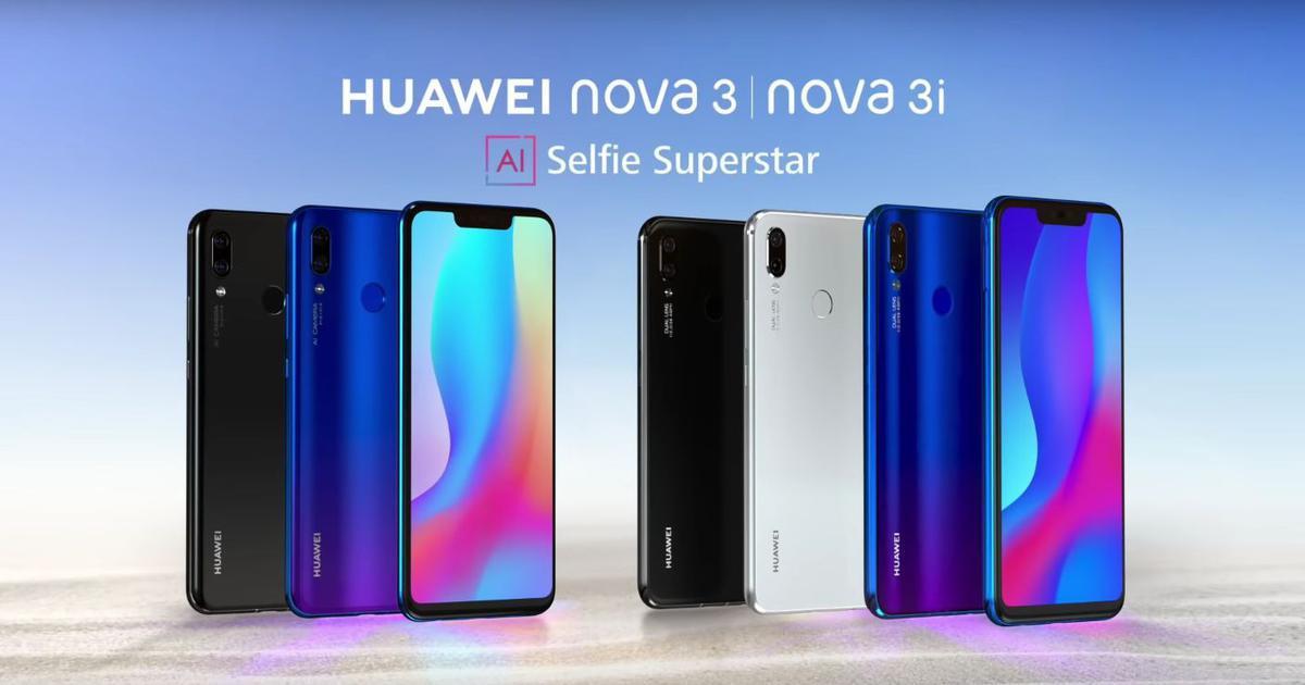 Huawei launches the Nova 3 and Nova 3i in India as Amazon