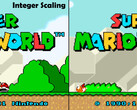 An example of integer scaling compared to its bilinear counterpart. (Source: TechPowerUp)