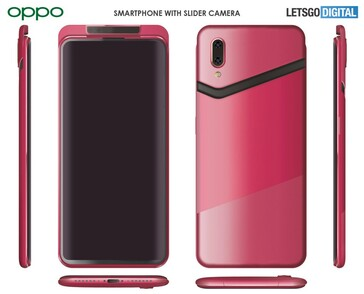 Some renders based on the purported OPPO patent. (Source: LetsGoDigital)