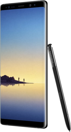 A render of the Note 8 with its stylus. (Source: @evleaks | Twitter)