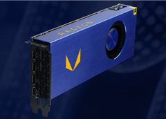 A gold logo is found on AMD's Radeon Vega Frontier Edition card. (Image source: AMD)