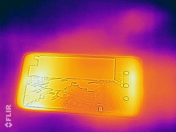 Heat-map of the front of the device under sustained load