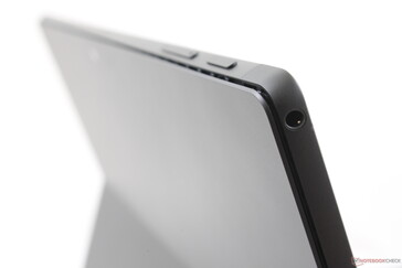 Narrow ventilation grilles along the top edge of the tablet