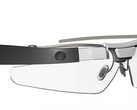 Google Glass wearable showing the heads up display. (Source: Google)
