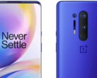 The Ultramarine Blue OnePlus 8 Pro looks great, but its price does not. (Image source: WinFuture)