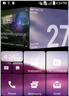 SquareHome 2 Android launcher with Windows 10 Live Tiles interface (Source: Google Play)