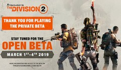 The Division 2 open beta official flyer (Source: Ubisoft)