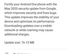 Xiaomi Mi A1 May 2020 software update notification (Source: Own)