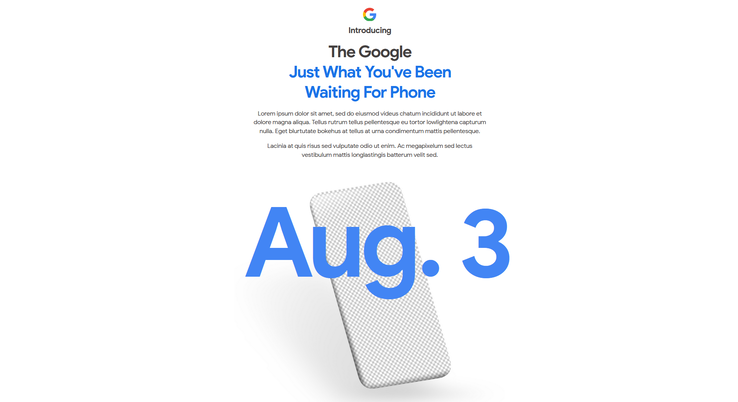 The full text of the new Google page. (Source: Google Store)