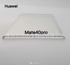 Huawei Mate 40 Pro screen protector. (Image source: @RODENT950)