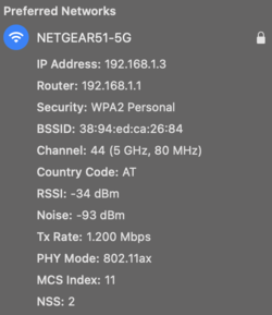 Only 80 MHz and therefore 1200 Mbit/s via WiFi 6