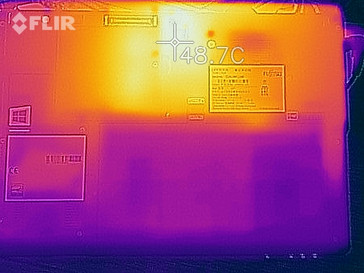 Heat-map of the bottom case under load