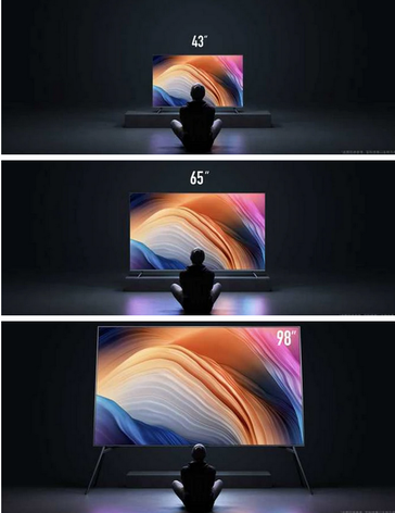 98-inch set comparison. (Image source: Gearbest)