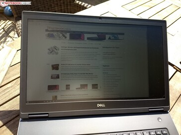 Using the Dell Precision 7730 outside in the sun