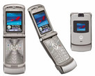 Motorola Razr feature phone with clamshell design