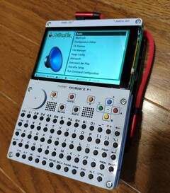 The Hyper Keyboard Pi turns the RPi board into a handheld PC. (Image source: Booth.pm)