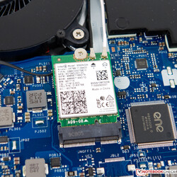 A look at the Intel Wireless AC 9560 included in our review unit