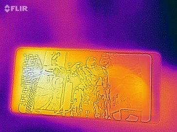 Thermal imaging photo of the front of the device under load