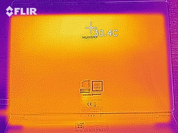 Thermal-imaging at idle – bottom