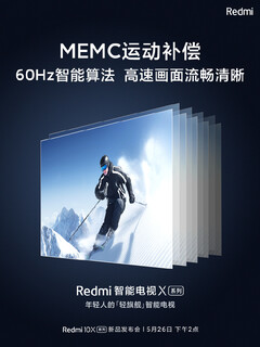 Redmi Smart TV X. (Image source: Weibo)