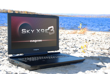 Eurocom Sky X9E3 VR Ready high-end laptop front side open