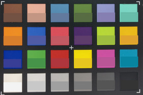 ColorChecker. Reference color in the bottom half of each square.