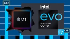 Intel has been targeting the Apple M1 chip in a series of slides to promote Intel Evo-badged laptops. (Image source: Intel/Applesutra - edited)