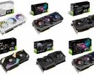 These Asus AIB graphics cards have already been updated with the new higher prices. (Image source: Asus - edited)