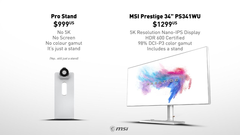 MSI takes jab at Apple's $999 monitor stand on Twitter, nails it (Source: MSI)
