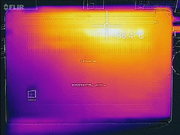 Thermal profile, idle, bottom