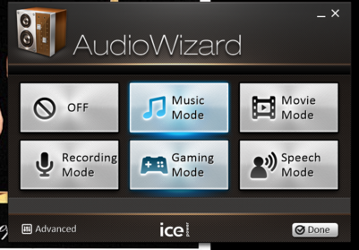 The AudioWizard software....