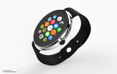 Concept image of what a round-faced Apple Watch could look like. (Source: Alcion Design)